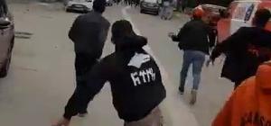 Adana'da derbi öncesi taraftarlar birbirine saldırdı Taraftarların birbirlerine taşlarla saldırdığı kavga, polisin müdahalesiyle büyümeden önlendi
