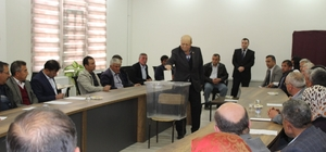 Hisarcık SYDV Mütevelli Heyeti'ne muhtar temsilcilerinin seçimi yapıldı