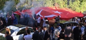Almanya'da Türk düğün konvoyuna şaşırtan tepki