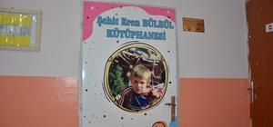 Şehit okuluna şehit kütüphanesi Miniklerden Eren Bülbül'e vefa