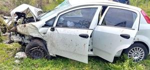 Ordu'da sağlıkçıların bulunduğu otomobil devrildi: 4 yaralı