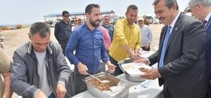 Başkan Çetin işçilere teşekkür etti fedakarlık istedi