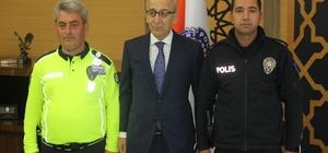 Kahraman polisler ödüllendirildi