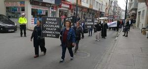 Bulancak'ta çocuk istismarına karşı tepki yürüyüşü düzenlendi