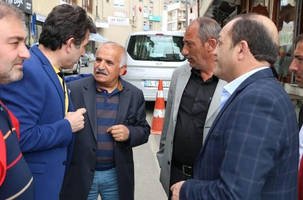MHP İl Başkanı Karataş'tan İspir Belediye Başkanı Coşkun'a ziyaret