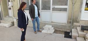 Belediye Başkanı Tekin, restorasyon çalışmalarını yerinde inceledi