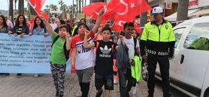 """Marmaris'te """"Büyük Trafik Yürüyüşü"""" düzenlendi"""
