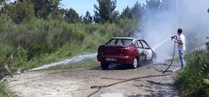 Kastamonu'da seyir halindeki otomobil yandı