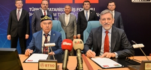"""BTSO'dan Türkiye-Tataristan İş Forumu Tataristan Cumhurbaşkanı Rüstem Minnihanov: """"Türkiye, Tataristan Cumhuriyeti için öncü ortaklar arasında bulunuyor. Yeni sanayi alanlarımızı da Türk yatırımcılarımızın gereksinimlerine göre oluşturduk"""""""