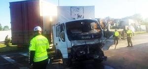 Samsun'da zincirleme trafik kazası: 2 yaralı