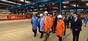 Genel Müdürüydü, bakan yardımcısı olarak ziyaret etti Ulaştırma ve Altyapı Bakan Yardımcıları Enver İskurt ve Selim Dursun, Türkiye Demiryolu Makinaları Sanayi'ni ziyaret etti