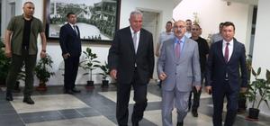 Vali Köşger ve Kaymakam Şahin'den Başkan Atay'a tebrik