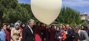 Türk bayraklı meteoroloji balonu gökyüzüne uçuruldu