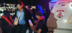 Marmaris'te lastik botta 15 düzensiz göçmen yakalandı