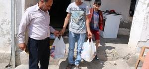 İş adamı kardeşlerden 200 aileye Ramazan yardımı