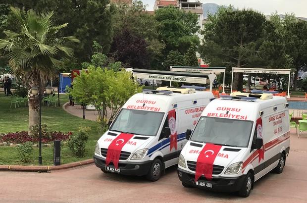Gürsu Belediyesi 2 sağlık aracına kavuştu