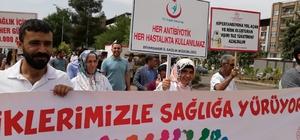 Bismil'de 'Sevdiklerimizle sağlığa yürüyoruz' yürüyüşü