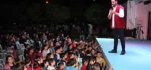 Ramazan seyyahları Oltu'da çocukları eğlendirdi