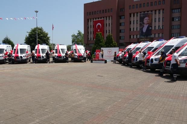 Samsun 112'ye 10 yeni ambulans 112 istasyonu sayısı 40'a, ambulans sayısı ise 73'e yükseldi