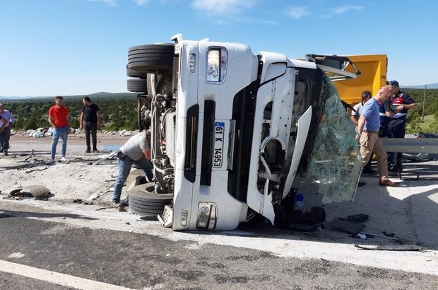 Çavdarhisar'da trafik kazası: 1 ölü