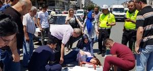 Otomobil çarpması sonucu 2 kadın ağır yaralandı