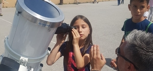 Öğrenciler teleskopla 'Güneş'i gözlemledi