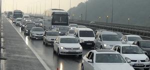 Bolu Dağı'nda yoğun bayram trafiği