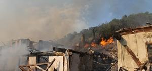 Çankırı'da telefonsuz köyde yangın: 7 ev kül oldu