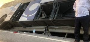 Yolcu otobüsü kaza yaptı: 40 yolcu ölümden döndü