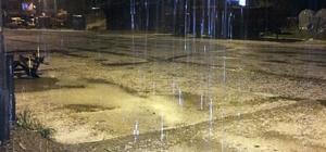 Kastamonu'ya 12 saattir dolu yağıyor Kastamonu'yu yumurta büyüklüğünde dolu yağdı