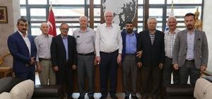 CHP Alpu teşkilatı, Kazım Kurt'u ziyaret etti