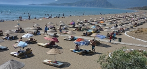 Güney Ege sahillerinde bayram yoğunluğu yaşandı