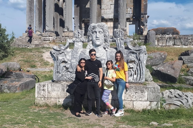 Aizonai Antik Kenti bayramda ziyaretçi akınına uğradı