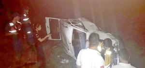 Otomobil devrildi : 1 ölü