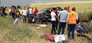 Kırıkkale'de feci kaza: aynı aileden 2'si çocuk 7 yaralı