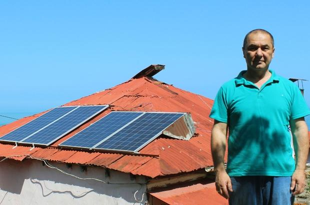 Kendisi için yapmıştı şimdi... Giresun'da bir televizyon tamircisi kendi ihtiyacını karşılamak için güneş enerji paneli kurdu, başarılı olunca da taleplere yetişemez hale geldi