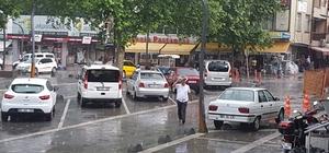 Erbaa'da sağanak yağış