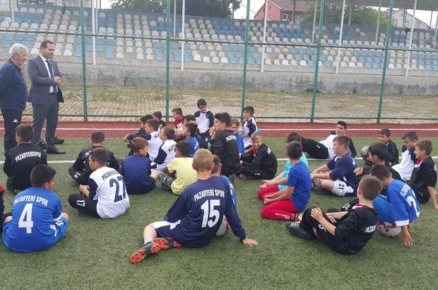 Kaymakam Güven'den futbol okuluna ziyaret