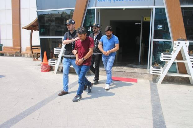 Vinç kiralayıp çalıştıkları yol şantiyesinden 250 bin TL'lik kablo çaldılar Eski çalıştıkları yol şantiyesinden hırsızlık yapan 2 şahıs gözaltına alındı