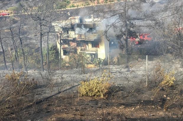 İzmir'deki korkutan yangın kontrol altında