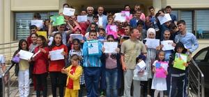 Havza'da karne heyecanı 7 bin 60 öğrenci karne aldı