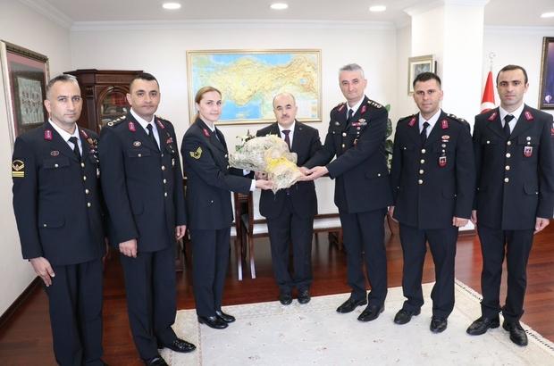 Jandarma'dan 180. Yıl ziyareti Komutanlar Vali Dağlı'yı ziyaret etti