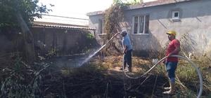 Yangını gönüllü itfaiyeciler söndürdü