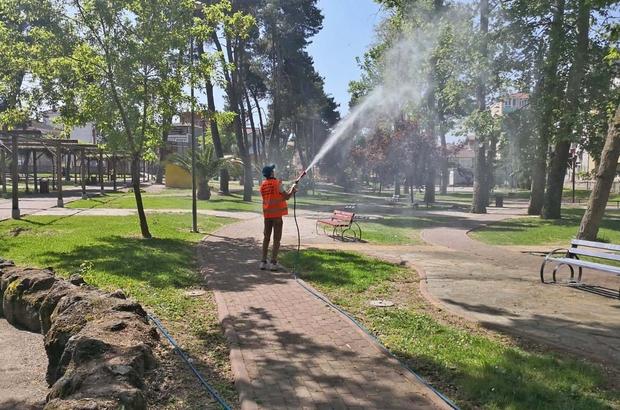 Bafra Belediyesi larva ilaçlamasını sürdürüyor