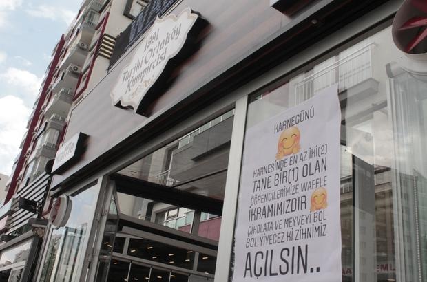 Diyarbakır'da karnesinde 2 zayıf olan öğrencilere waffle ücretsiz