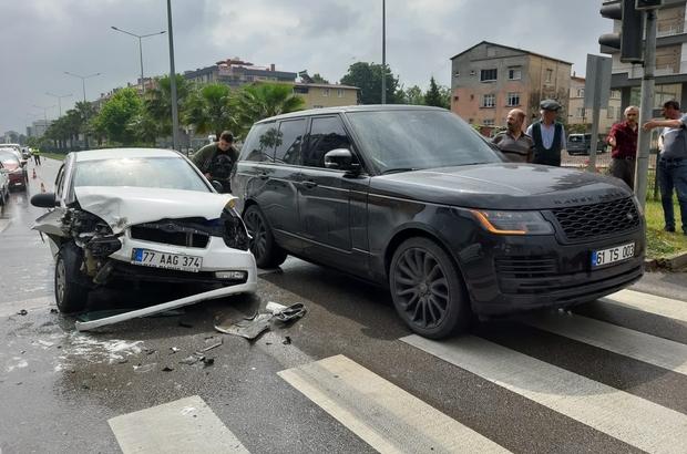 Samsun'da zincirleme kaza ucuz atlatıldı