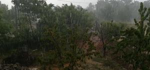 Aydın ve İzmir'de etkili yağış İki saatte tarlalar göle döndü