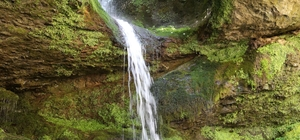Ormanın yüzüğü: Delikli Kaya Şelalesi Artvin'in Murgul ilçesinde ve adeta saklı bir cenneti andıran Delikli Kaya Şelalesi ziyaretçi akınına uğruyor