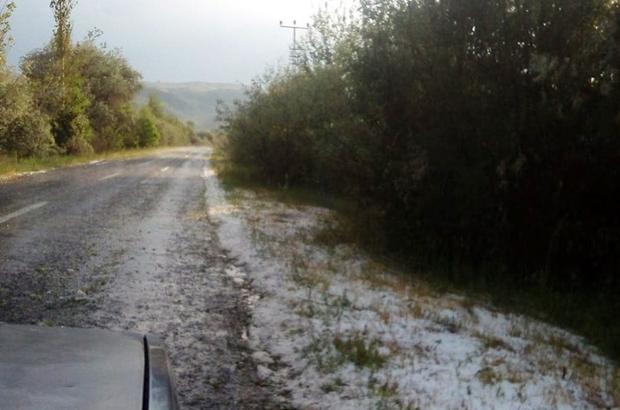 Kayseri'deki dolu yağışı ekili anlarla zarar verdi