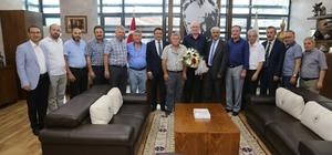 Eskişehir Muhacir Dernekleri Federasyonu'ndan Başkan Kurt'a tebrik ziyareti